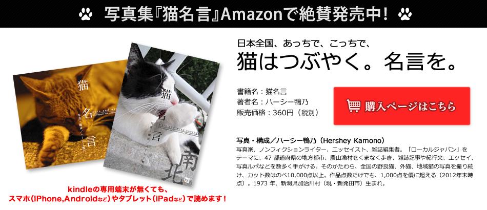 写真集『猫名言』Amazon(Kindleストアー)で近日発売!